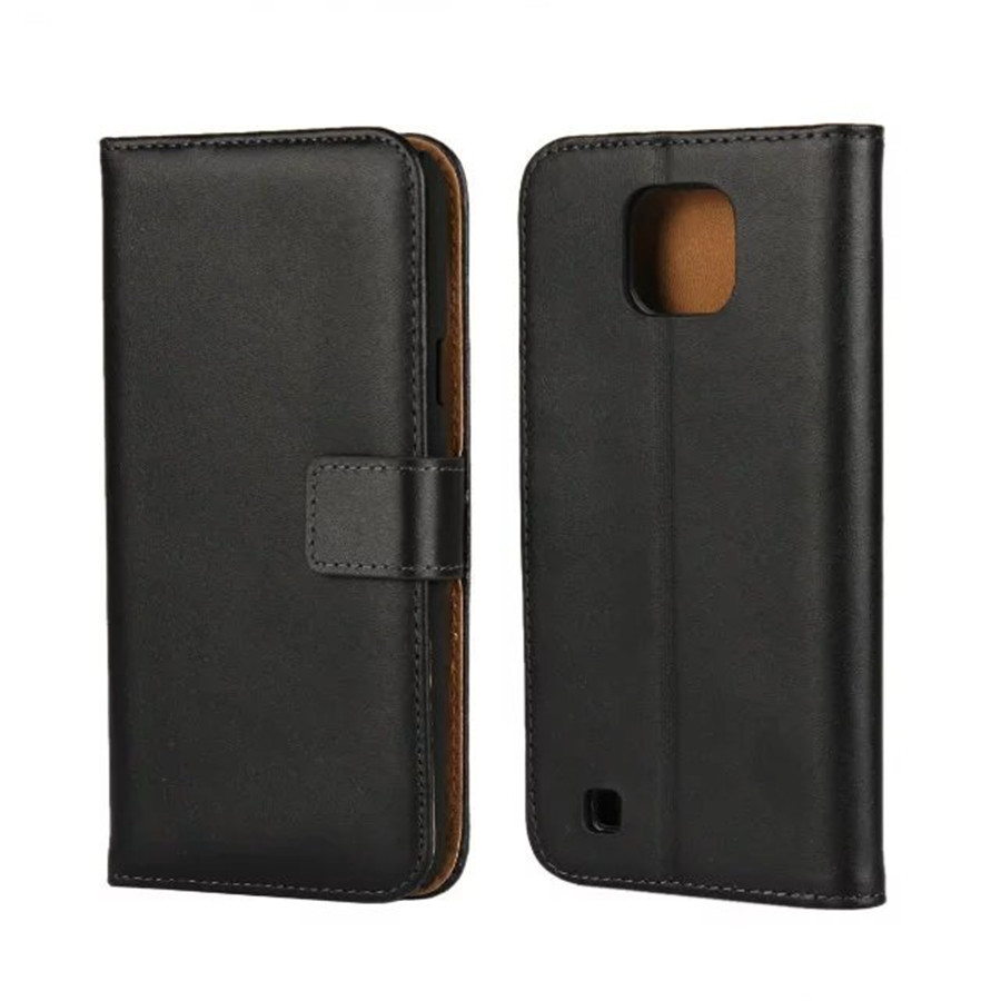 Genuine Leather Mobile Phone Case For LG X Cam Flip Stand Wallet With Card Slot Holder Cellphone Protection Cover Shock Proof