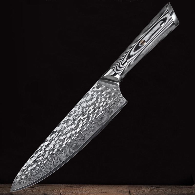 New Handmade Knife 67 layers Japanese Damascus Stainless Steel Chef Knife Kiritsuke T Head Kitchen Utility Knives Wood Handle in Kitchen Knives from Home Garden