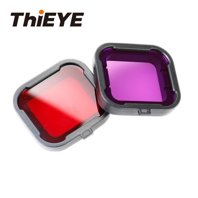 Diving Filter For ThiEYE Action Camera T5 Edge/E7 And For GoPro Hero 4 Diving Water Lens Filter Sports Cam Accessories