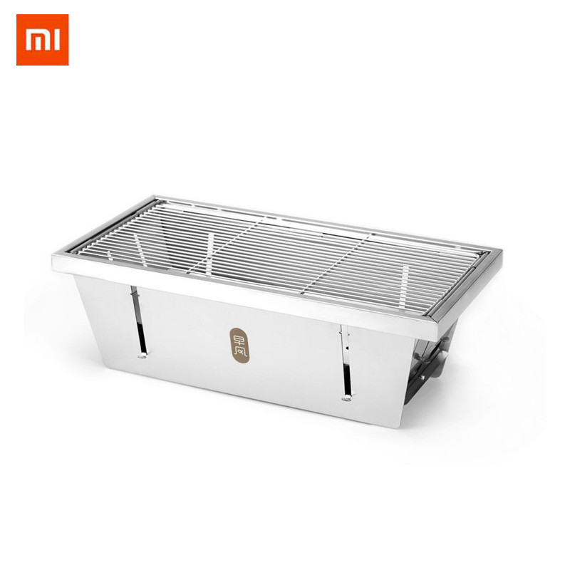 b0fe071b35b56e Detail Feedback Questions about Xiaomi mijia zaofeng Portable BBQ Grill  Stainless Steel Folding Barbecue Stove Charcoal Barbecue Rack For Camping  BBQ Tools ...