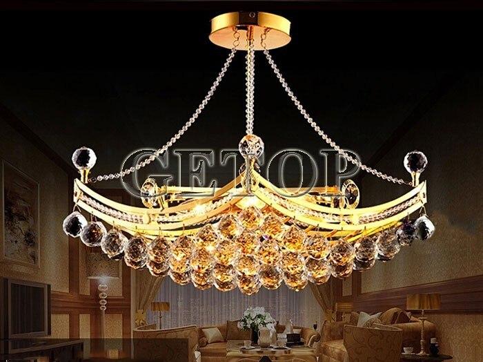 Kronleuchter Gold Kristall ~ Beste preis luxus kristall kronleuchter pendelleuchte gold