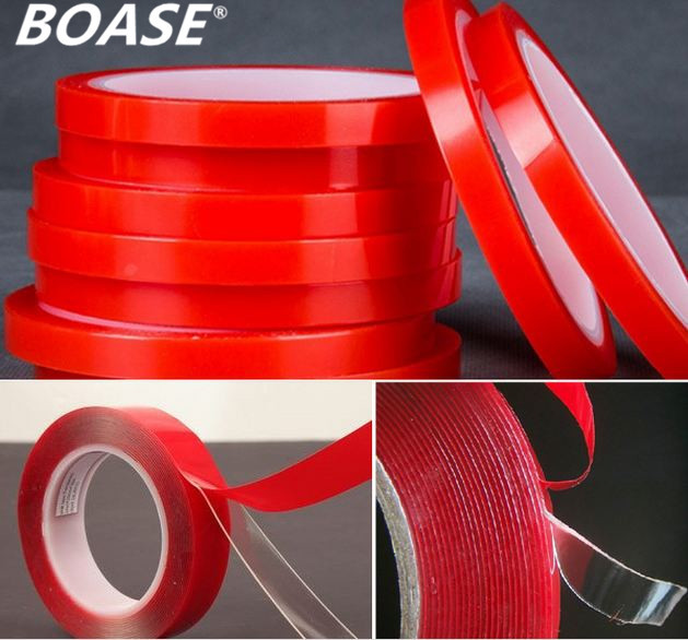 5pcs/lot 6mm x 3m Double Sided Tape Sticker Car Interior Accessories Double Sided Transparent Adhesive Sticker No Traces