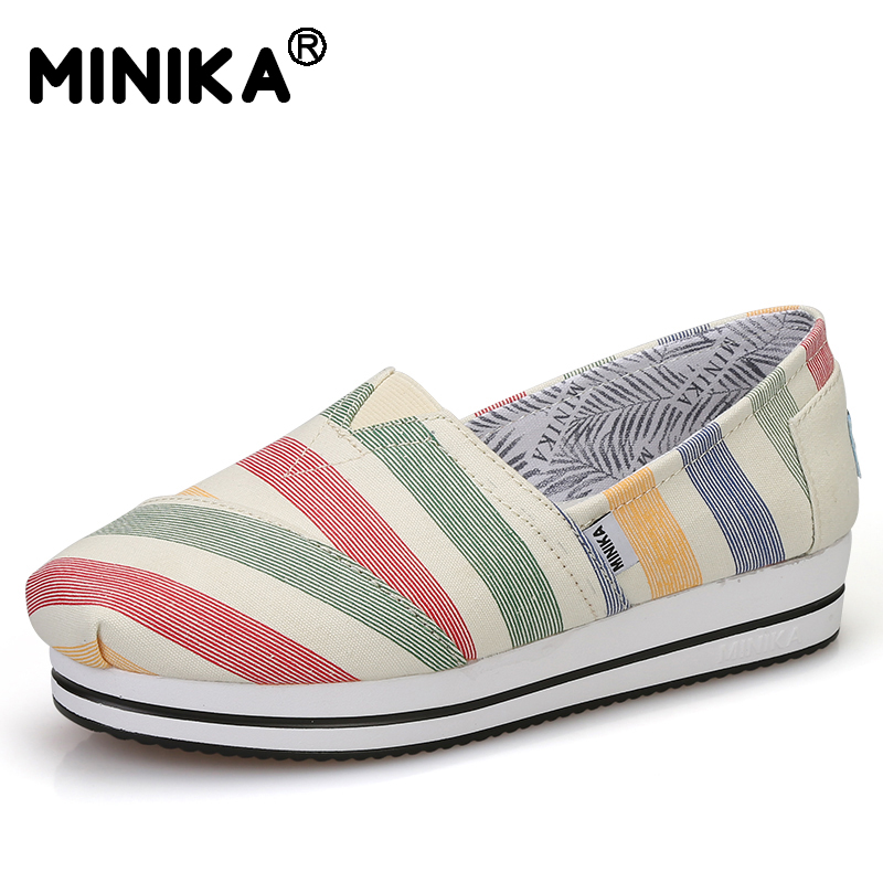 Minika Hot Sale Fashion Women Canvas Flat Shoes Low Top Casual Lazy Flat Student Shoes Light & Comfortable Pretty Shoes Footwear hot sale 2016 top quality brand shoes for men fashion casual shoes teenagers flat walking shoes high top canvas shoes zatapos