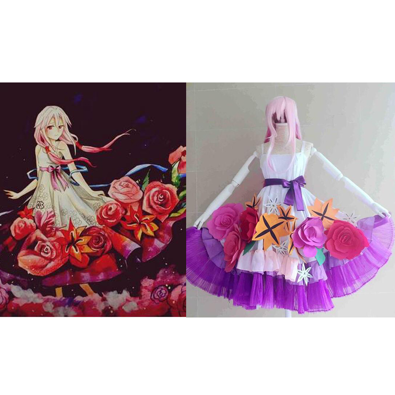 2016 Guilty Crown GC YUZURIHA INORI Cosplay costume Flower Dress
