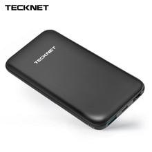 TeckNet 10000 mah Power Bank TYPE C batería externa portátil mi cro USB cargador de polímero de litio para iPhone Xiaomi mi