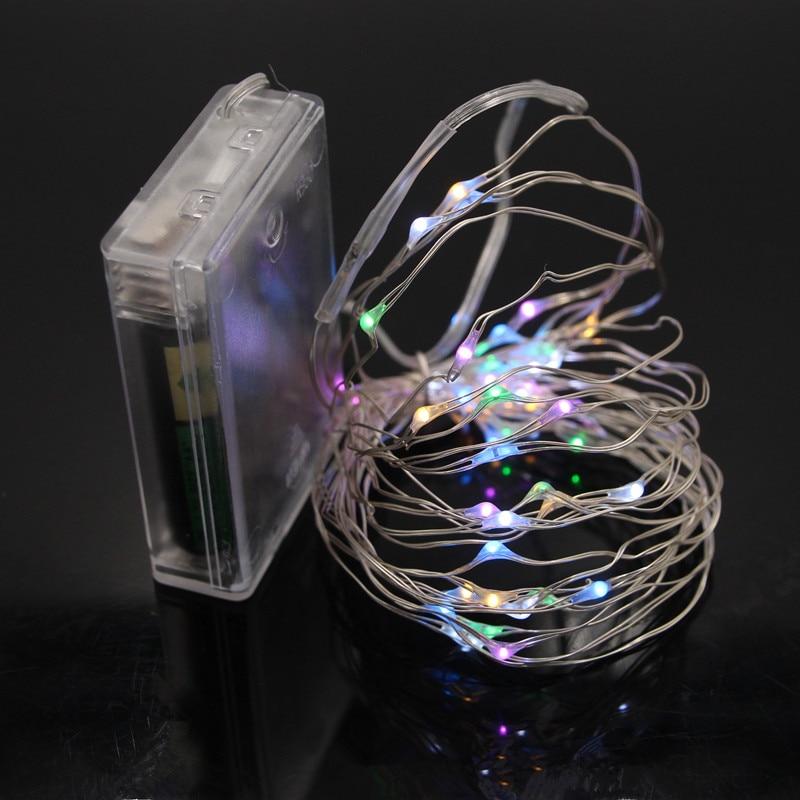 10 светодиодный/M Водонепроницаемый 3 аа Батарея работает Гирлянды светодиодные огни 5 м 4 м 3 м 2 м Медный провод фея светодиодный свет для Рожд... ...
