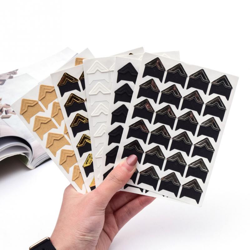 Auto-adhésif Cadre Photo Corner Stickers Pour À faire soi-même album scrapbook Multi couleur