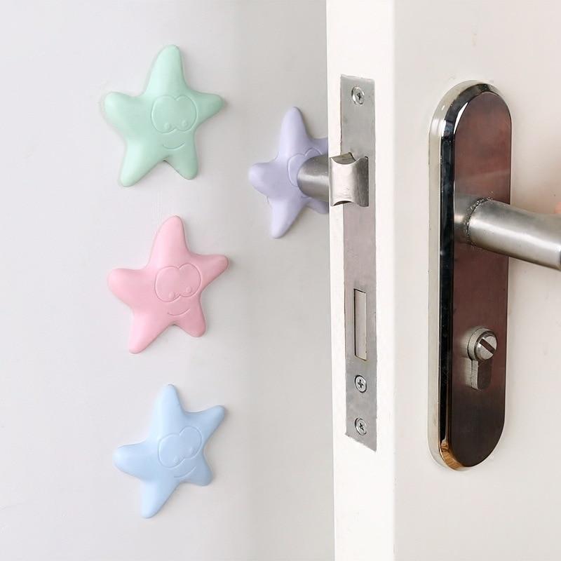 4 Pcs/set Rubber Thickening Mute Anti-collision Doorknob Gate Lock Antivibration Protective Pad Chip Shield Safe Guarding Tools