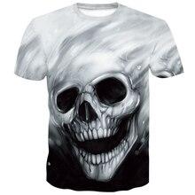 New black t shirt 3D Skull tshirt Men T-shirt Male Top Summer Tee Quality breathable Short Sleeve O-neck Hip Hop funny shirt цена