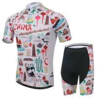 China Men Cycling Clothing Outdoor Sports Suit Short Sleeve Jersey And Shorts Set Quick Dry 100