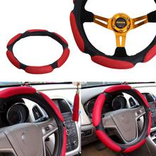 Capa de volante do carro acessórios interiores do carro estilo do carro anti deslizamento automóvel volante do carro cobre casos