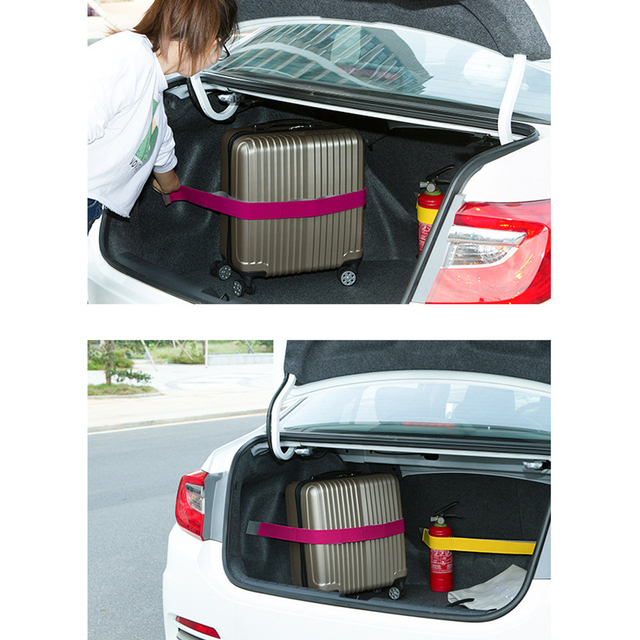 Dewtreetali Auto Interior Accessories Car Trunk Organizer Elastic Car-styling Color Strap Fixed Sundry Stowing Tidying Hot S