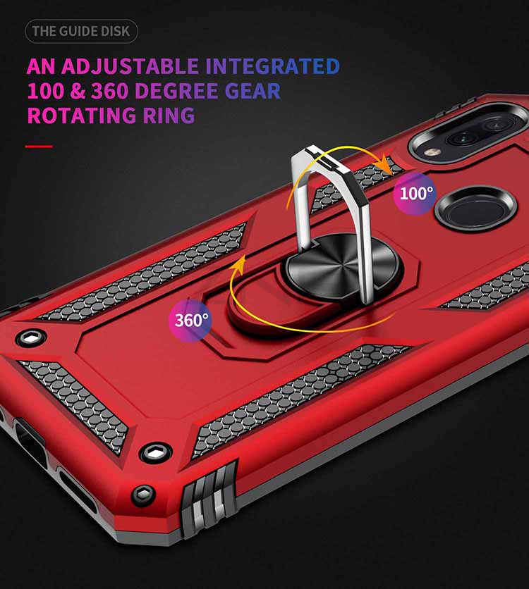 ZNP Luxury Armor Stand Case For Xiaomi And Redmi Note 7 8 Pro With Magnetic Ring Holder 14