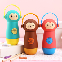 Creative Lovers Children Portable Water Glass Bottle 260ml Cute Monkey Stainless Steel Of Male And Female