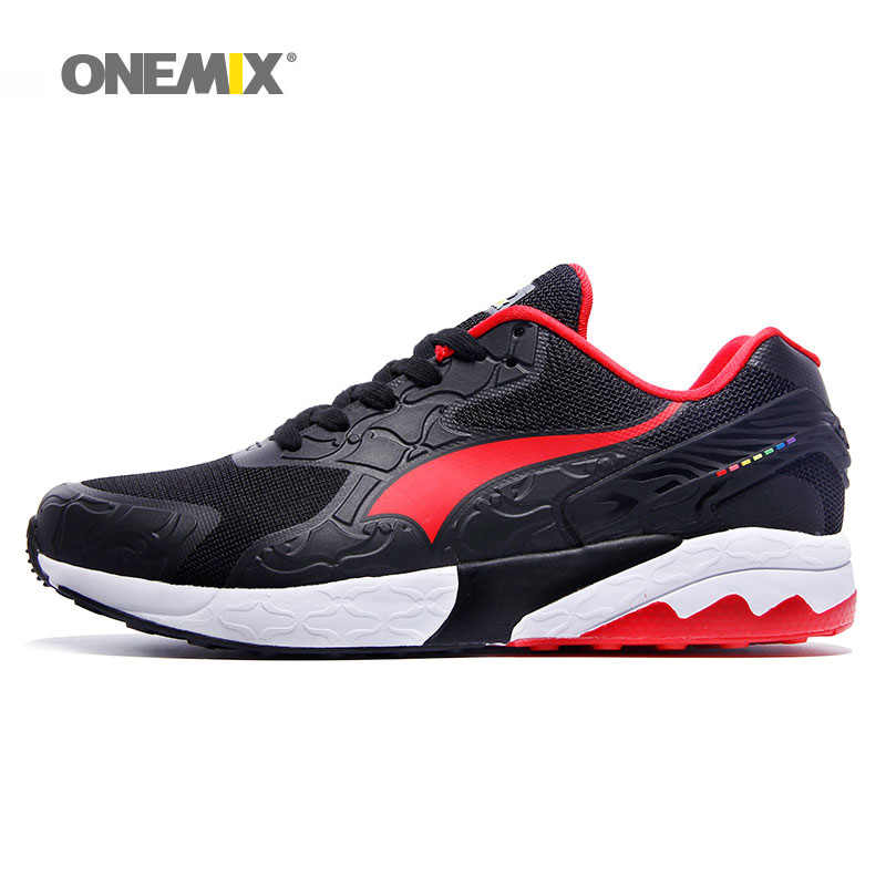 ONEMIX Nam Chạy Bộ Nữ Retro Cổ Điển Thể Thao Huấn Luyện Viên Thể Thao Giày Chạy Bộ Lưới Ngoài Trời Đi Bộ Giày Thể Thao