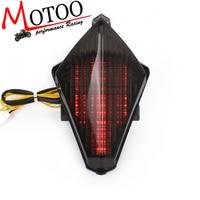 Motoo free shipping Motorcycle Bike Tail Brake Light Turn Signal Running Light Smoke Rear Lamp for Yamaha YZF R1 YZF R1 07 08