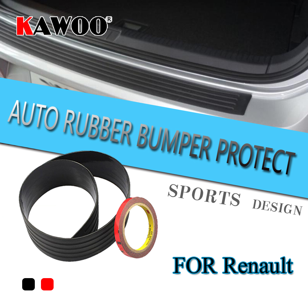KAWOO For Renault Scenic 3 Megane 2 Fluence Modus Master Rubber Rear Guard Bumper Protect Trim