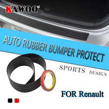 KAWOO For Renault Scenic 3 Megane 2 Fluence Modus Master Rubber Rear Guard font b Bumper