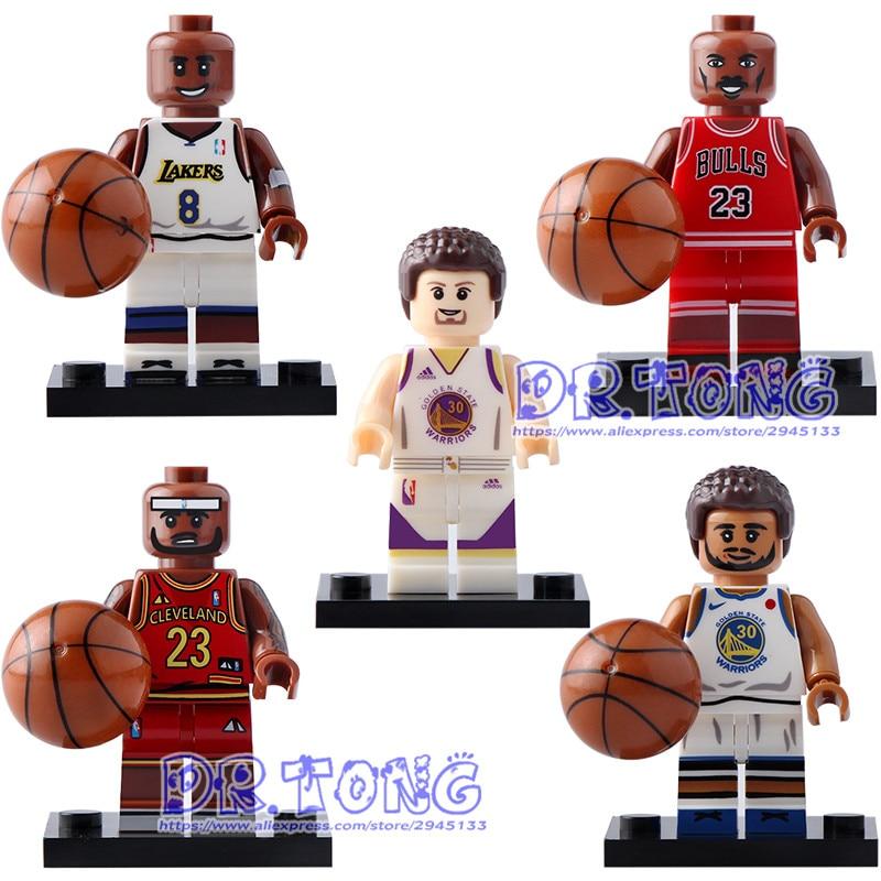 DR.TONG 5pcs/lot Dr8604 Super Heroes NBA Professional Basketball Player Michael Jordan Stephen Curry Kobe Bryant Bricks Toys фанатская атрибутика nike curry nba