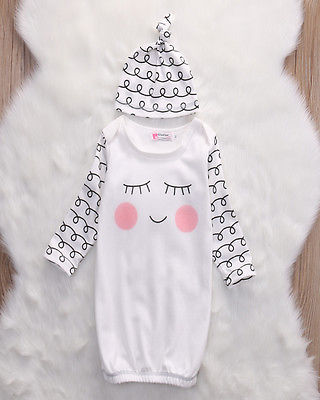 Cut-Newborn-Baby-Clothes-Sleepy-EyesRosy-Cheeks-Baby-Gown-Hat-Infant-Newborn-Coming-Home-Sleepwear-Sleeping-Bags-5