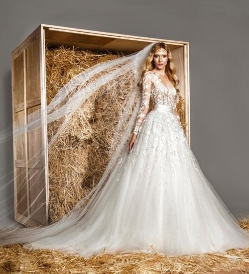 Lebanon Y Long Sleeve Wedding Dress Hot Ivory See Through Detachable Skirt Dresses Prices With Removable In From