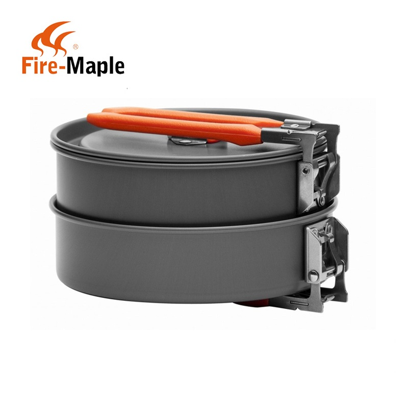 Fire Maple Feast 1 Outdoor Camping Hiking Cookware Backpacking Cooking Picnic Pot Pan Set 1 2