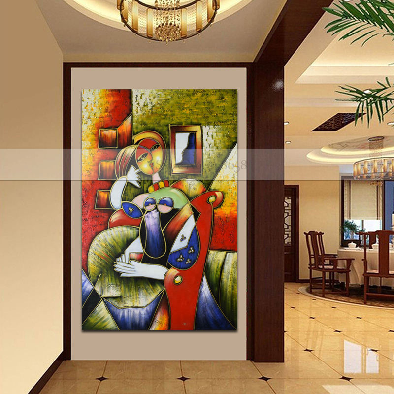 New 100 Handmade oil painting on canvas Modern Picasso Canvas painting Sexy Women Wall art picture