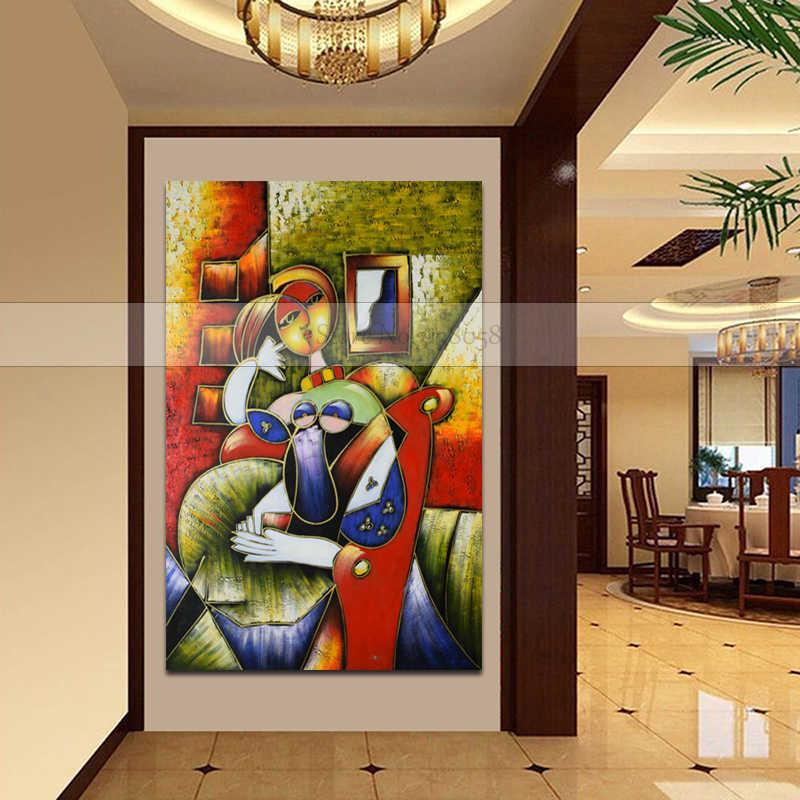 New 100%Handmade oil painting on canvas Modern Picasso Canvas painting Sexy Women Wall art picture for Living Room Bedroom Decor