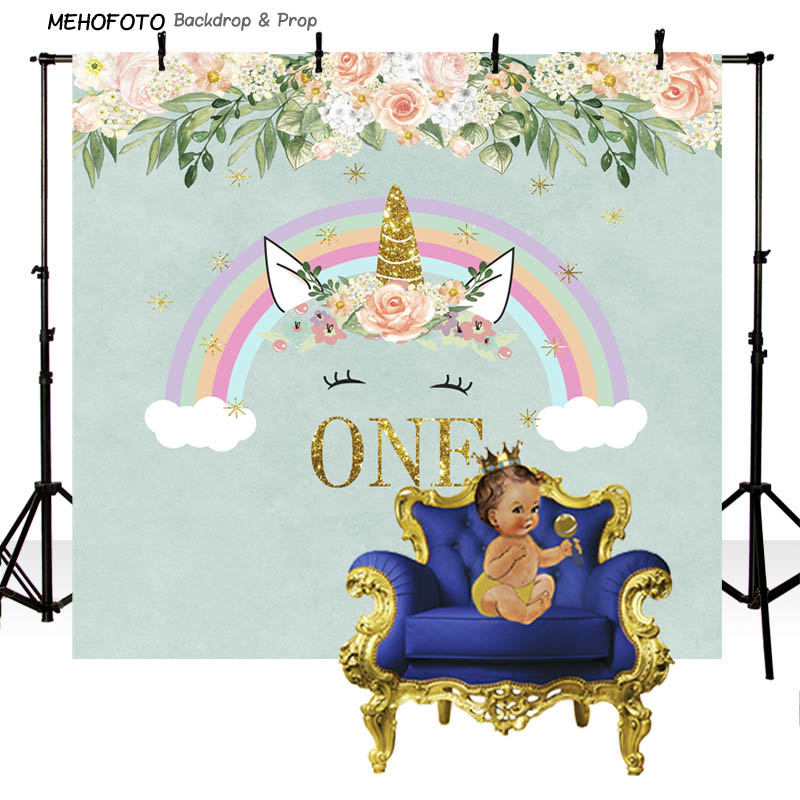 Customized Backdrop Vinyl Photography Background Rainbow One Baby Newborn Birthday Children Backdrops for Photo Studio PA-004 new promotion newborn photographic background christmas vinyl photography backdrops 200cm 300cm photo studio props for baby l823
