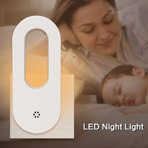Image 1 - LED Stecker in der Nacht Licht Warm Weiß Wand Lichter Dusk zu Dawn Licht Sensor für Baby Kinder Kinder der Zimmer Kindergärten Treppen Flur