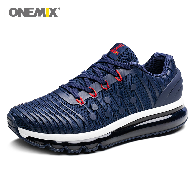 Onemix air cushion running shoes for men s 97 light sneakers vamp anti skid outdoor jogging