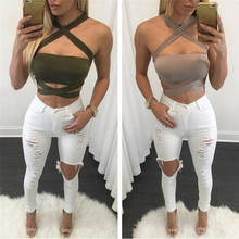 FREE SHIPPING Cropped Tanks Cut Out Tops JKP931