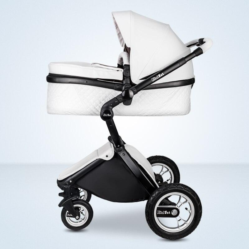 EU 2 in 1 Kinderwagen multifunctionele Luxe Kinderwagen Vouwen Ultra Licht Kan zitten kan worden liggen Kind Trolley 2
