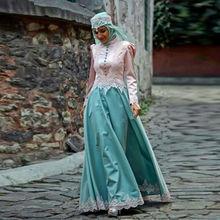 2016 Hijab Muslim Evening Dress Islamic Abaya Kaftan Formal Long Sleeve Dress Applique Robe De Soiree Abiye Elegant Evening Gown