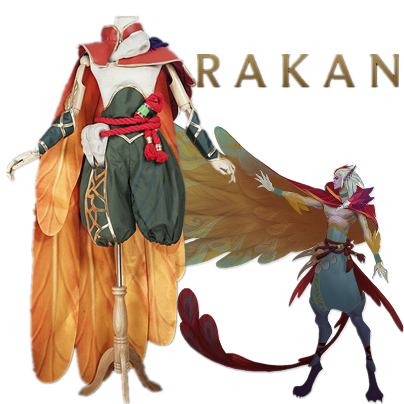 Game LOL RAKAN The Charmer Cosplay Costume Fancy Costume COSPLAYONSEN