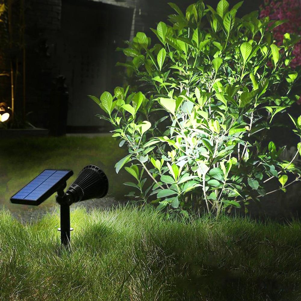 LED Solar Power Spotlight Lawn Lamp Outdoor Landscape Light Garden Lawn Lamp Light Waterproof Spot Bulbs|Outdoor Landscape Lighting| |  - title=