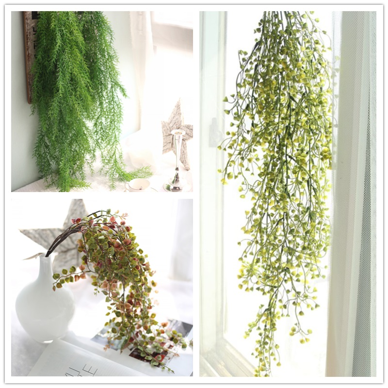 Artificial Ivy Leaf Plants Green Garland Vine Fake Foliage Home Christmas Wedding Decoration