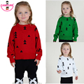 2015 Autumn Winter Girls Knitted Sweater Kids Cloud Triangle Pattern Sweater Jumper Boys Girls Baby Sweaters Pullovers Clothing