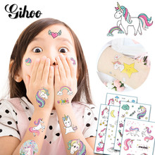 5pcs Cartoon Unicorn font b Tattoo b font Stickers Kid s Cute Children Face Tatouage Temporaire