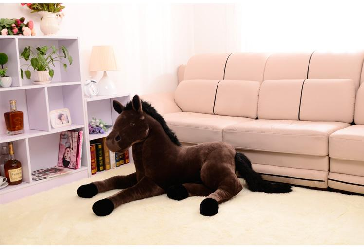 creative simulation plush horse toy brown horse doll gift about 70cm