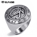 Mens Boys Egyptian Eye of Horus Ra Udjat Talisman Stainless Steel Stainless Steel Ring