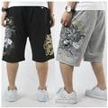 Бесплатная доставка плюс размер известный бренд xxl XXXL 4xl 5xl 6x 7xl хлопок случайные шорты короткие мужчины пляж печати эластичный пояс краткое