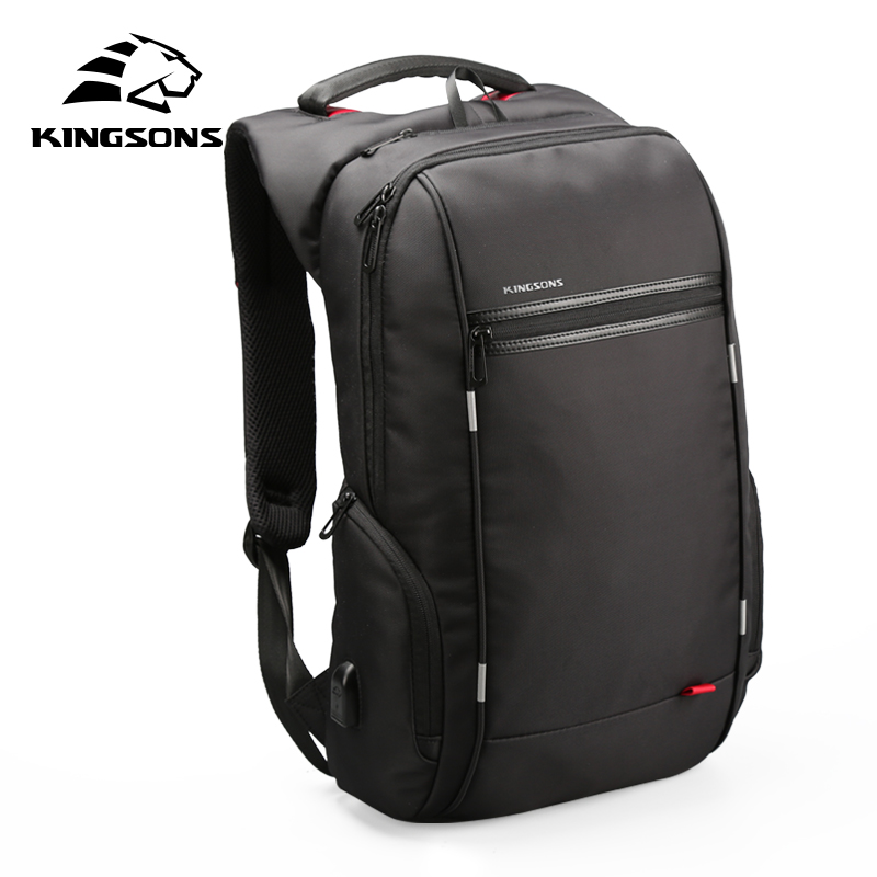 Kingsons Backpacks 13/15/17 inches Laptop Backpack USB Charger Bag Antitheft Backpack for Male Mochila Masculina