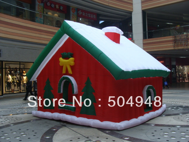 Beauty Inflatable Christmas Santa House inflatable cartoon customized advertising giant christmas inflatable santa claus for christmas outdoor decoration