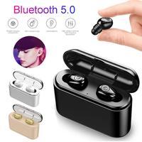X8S Bluetooth 5,0 5D звуковые наушники TWS беспроводная гарнитура громкой связи спортивные стерео наушники Встроенный микрофон с большой зарядной ко...