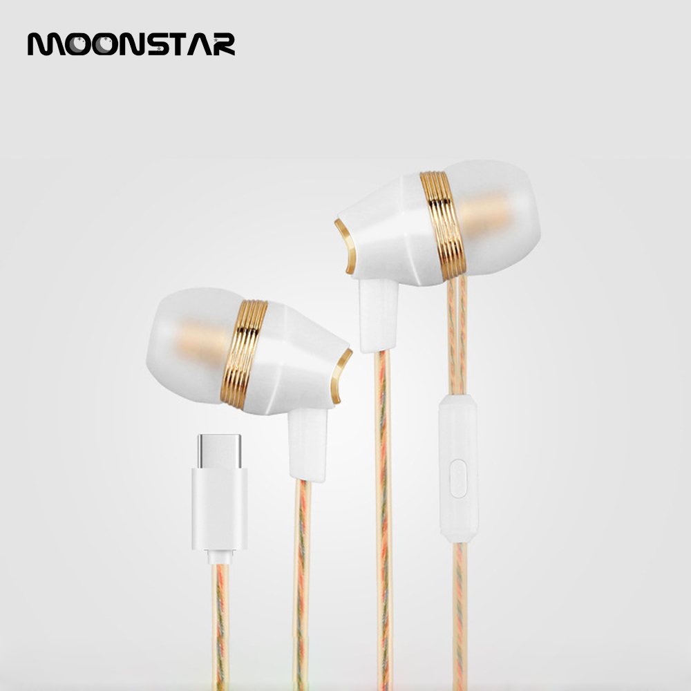 High quality Original Type-C Wired Headset fone de ouvido With HD Microphone Aluminum Earphone Type-C jack for Letv 2Pro goolrc original high quality aluminum