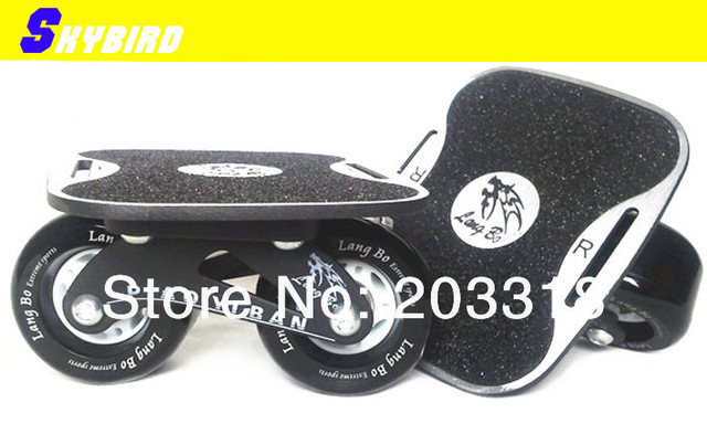 X-drift skates freeline skates/the hole on board can use tie to the feet,speed roller skates with free shipping