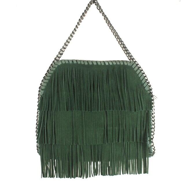 2016 Fall new suede fringed handbag European and American fashion shoulder Messenger bag Ms. pu leather bag