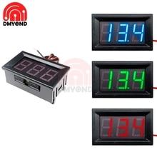 2 Wires 0.56 inch 0.56'' DC 4.5-30V Digital Voltmeter LED Vehicles Motor Voltage Panel Meter Mini LED Voltmeter Red Blue Green
