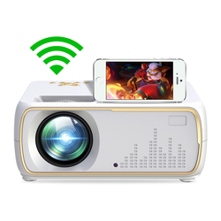 Android 8,0 wifi led mini Proyectores portátiles full hd lcd 4 k Cine en Casa proyectores película proyector pequeño